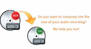 How do I compress my audio recording?
